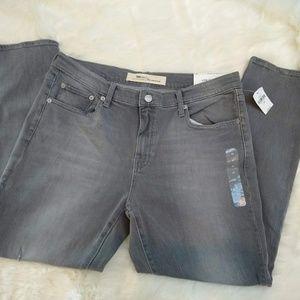 GAP | NEW Gray Jeans Low Stretch Best Girlfriend